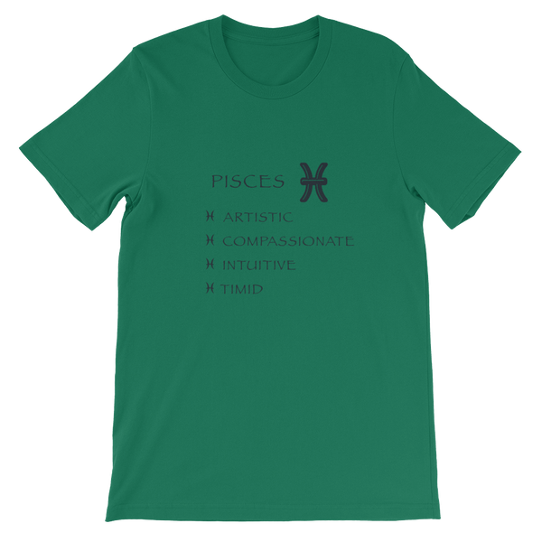 Pisces Bella + Canvas Unisex short sleeve t-shirt