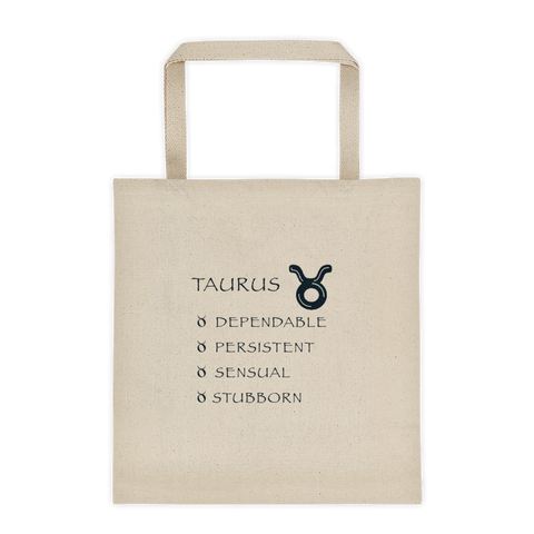 Taurus Reinforced Bottom 100% Cotton Tote bag