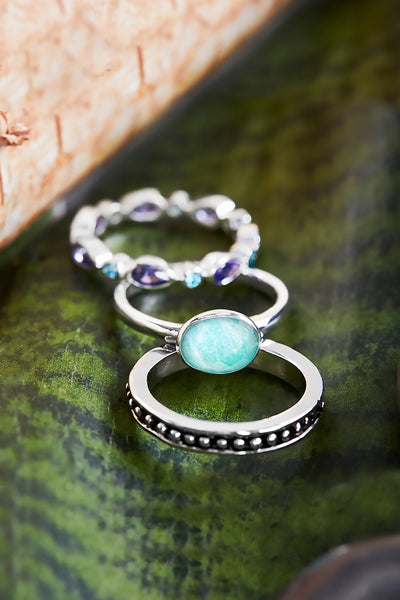 Amazonite Stack Ring Set