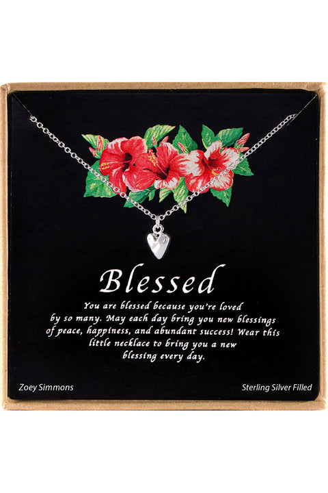 Sterling Silver Blessed Charm Necklace
