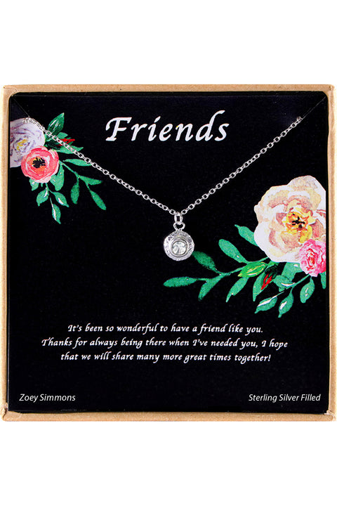 Sterling Silver Friends Charm Necklace