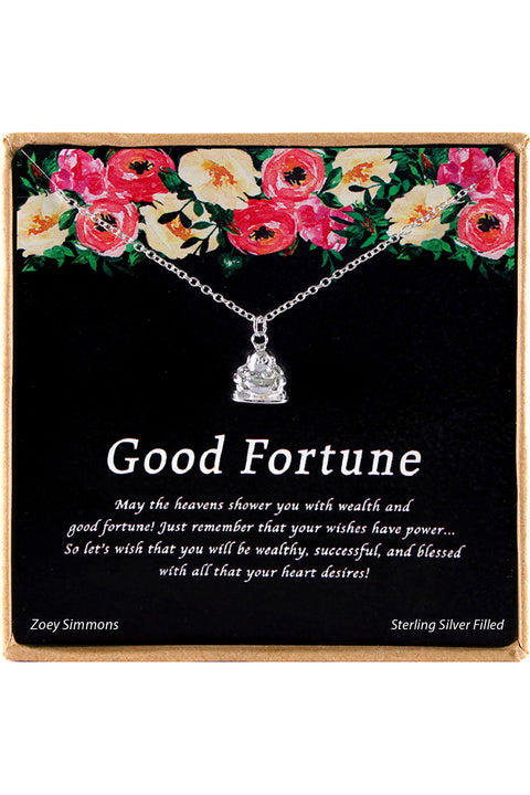 Sterling Silver Good Fortune Charm Necklace