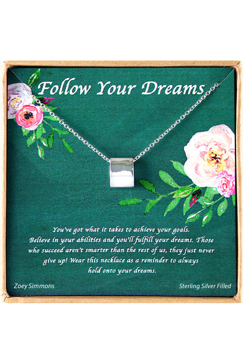 Sterling Silver Follow Your Dreams Charm Necklace