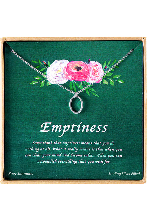 Emptiness Charm Necklace