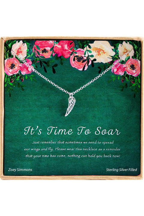 It's Time To Soar Charm Necklace