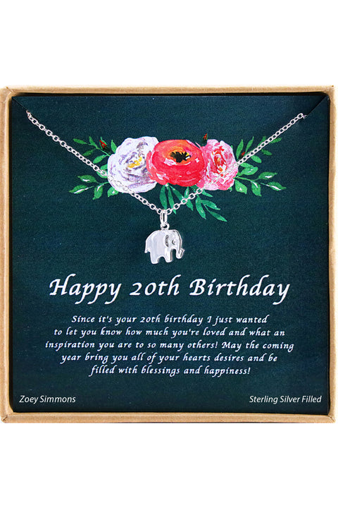 Happy 20th  Birthday Charm Necklace