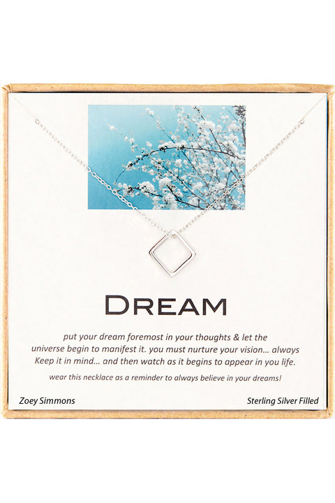 Sterling Silver Boxed 'Dream' Inspiration Necklace