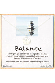 Sterling Silver Boxed 'Balance' Inspiration Necklace