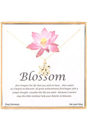 14k Gold Plated Sterling Silver Boxed 'Blossom' Inspiration Necklace