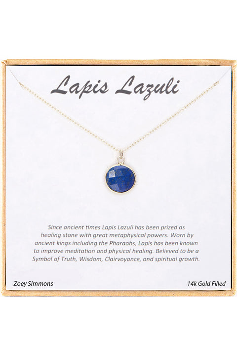 18K Gold Plated Sterling Silver Boxed 'Lapis' Inspiration Necklace
