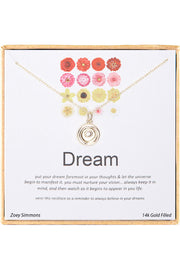 18K Gold Plated Sterling Silver Boxed 'Dream' Inspiration Necklace
