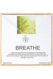 Boxed 'Breathe' Inspiration Necklace