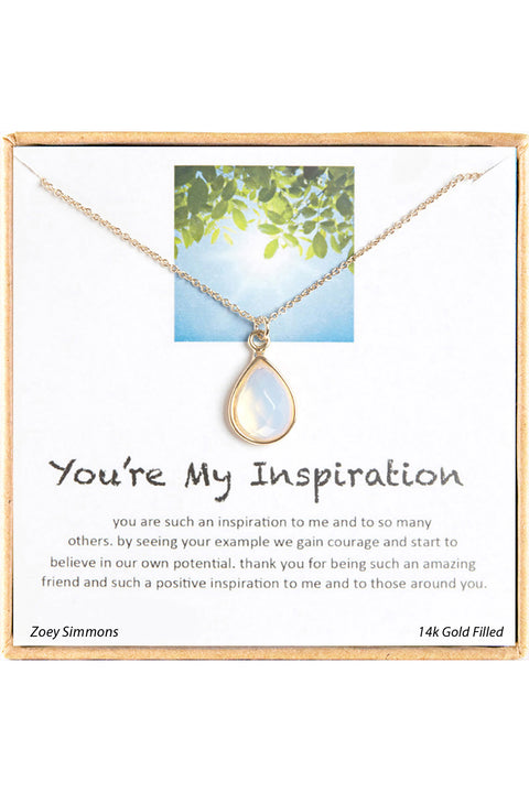 18K Gold Plated Sterling Silver Boxed 'You're My Inspiration' Inspiration Necklace