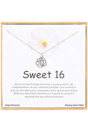 Sterling Silver Boxed 'Sweet 16' Inspiration Necklace