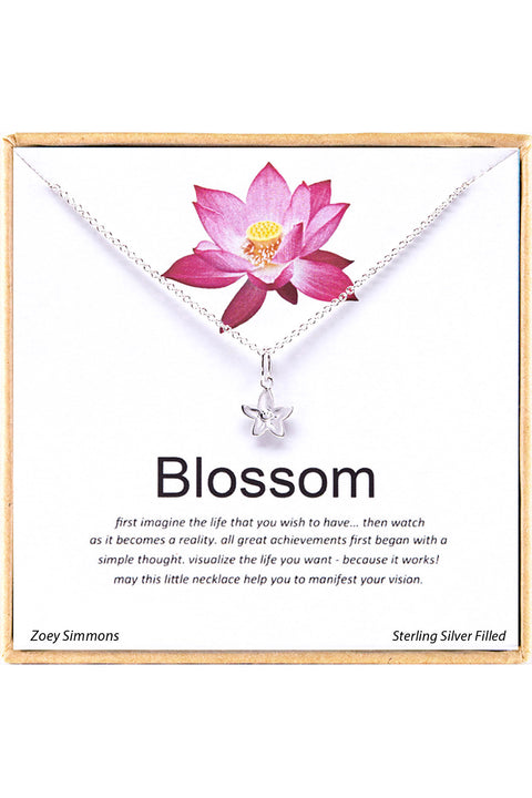 Sterling Silver Boxed 'Blossom' Inspiration Necklace