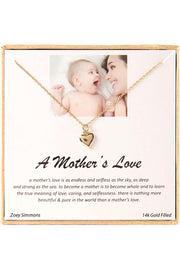 14k Gold Plated Sterling Silver Boxed 'A Mother's Love Neclace' Inspiration Necklace