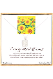 Sterling Silver Boxed 'Congratulations' Inspiration Necklace