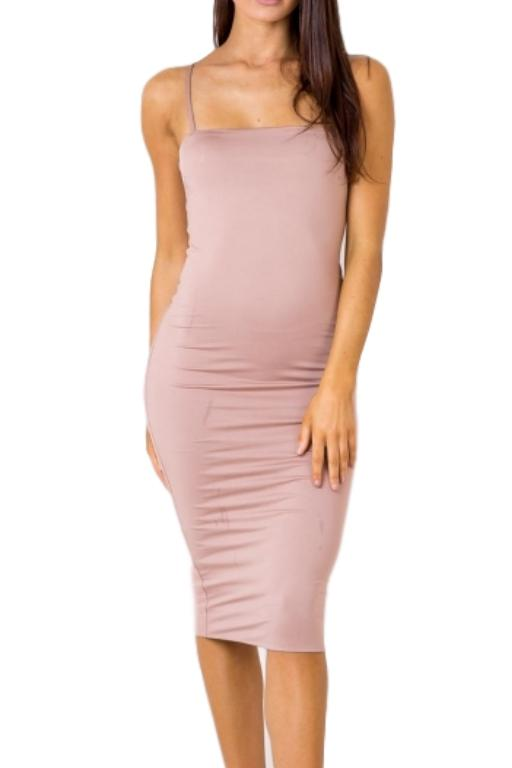 ASHA Em Midi Dress Blush 32381