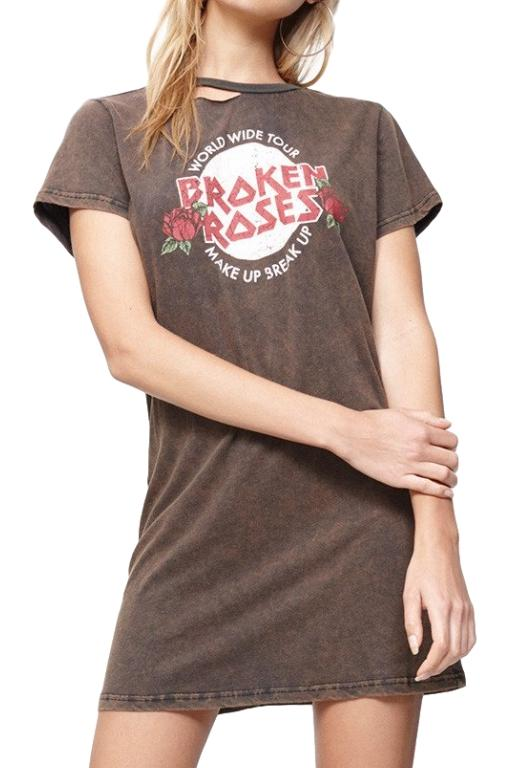 MINKPINK Broken Roses Tee Dress Multi 31915