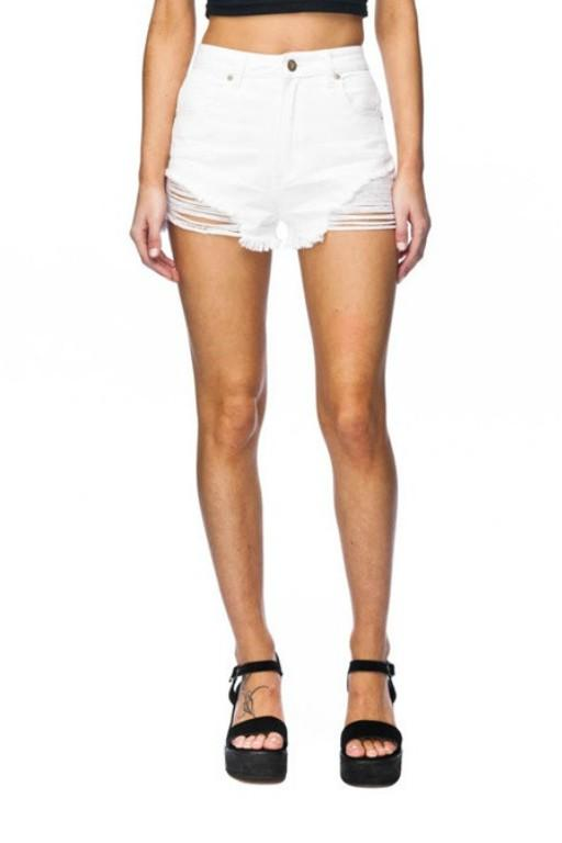 ABRAND- High Relaxed Short Salty White 33237