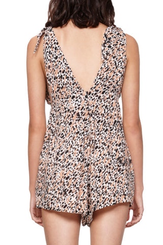 MINKPINK Animalia Tie Shoulder Playsuit Multi 30457
