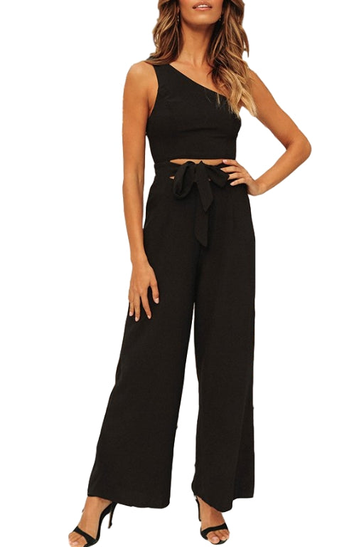 ASHA Bella Jumpsuit Black 33863