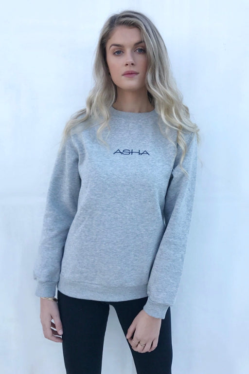 ASHA Crew Sweat Grey 34111
