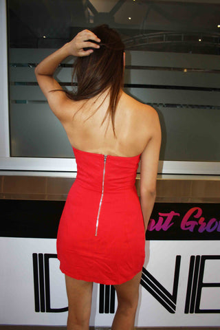 LUVALOT Hialeah Dress Red 34591