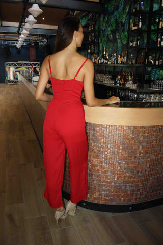 LUVALOT Aventura Jumpsuit Red 34582