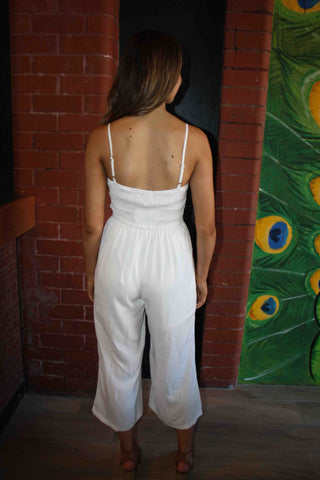 LUVALOT Palmetto Jumpsuit White 34583