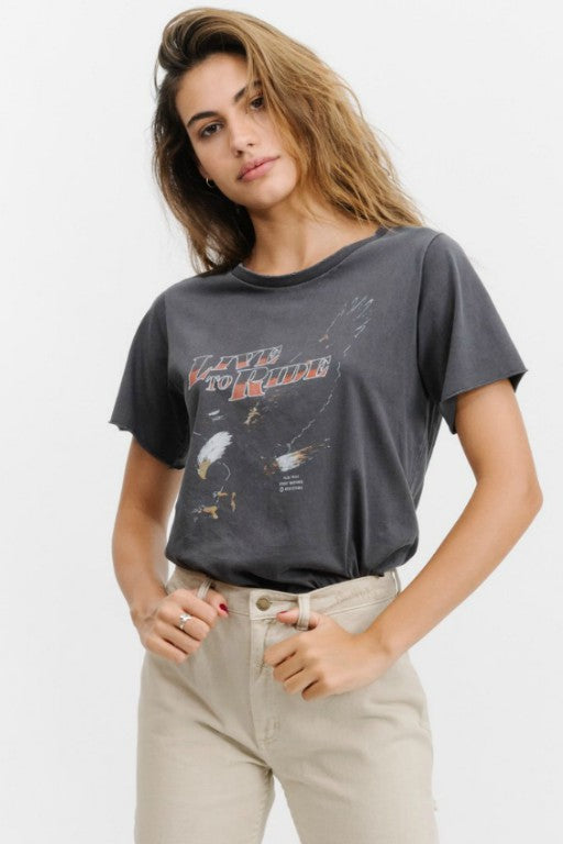 THRILLS - Live To Ride Tee Vintage Black 32679
