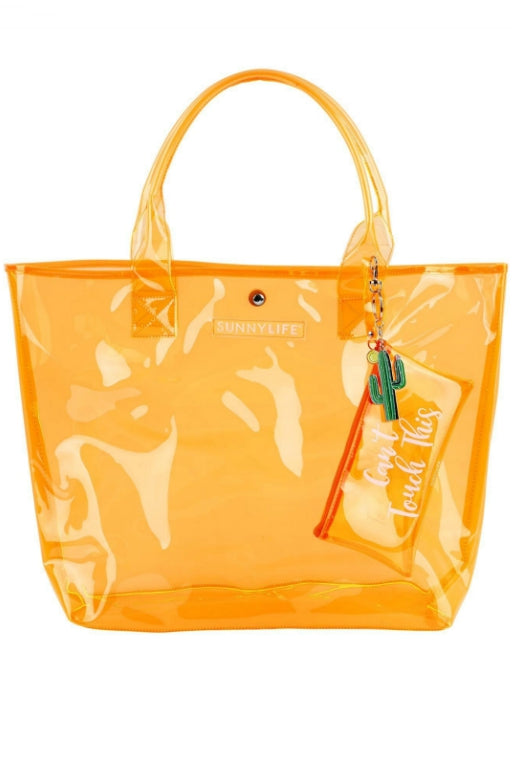 SUNNYLIFE Market Bag Neon Orange 32489