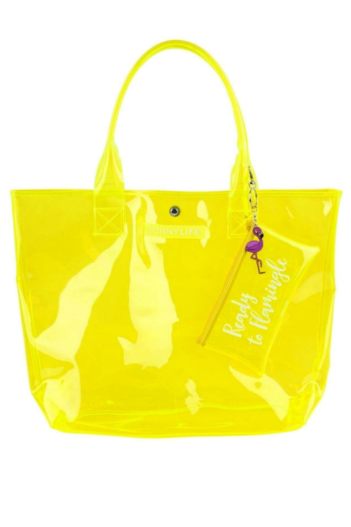 SUNNYLIFE Market Bag Neon Yellow 32489