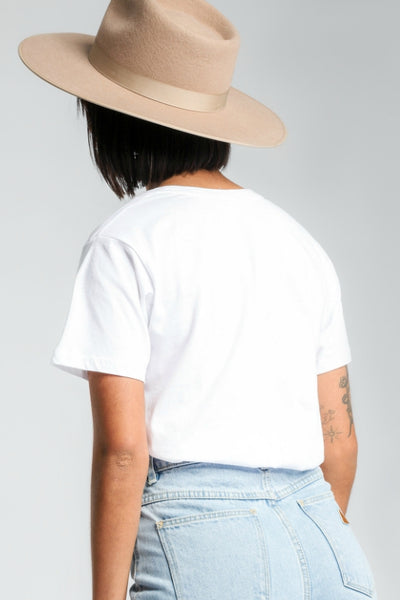 NUDE LUCY Slow Down Tee White 34302