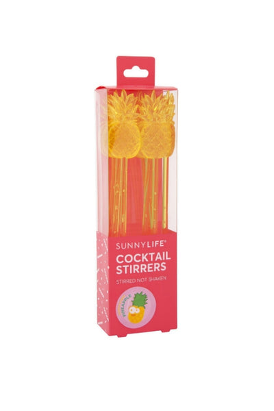 SUNNYLIFE Pineapple Cocktail Stirrers 32493