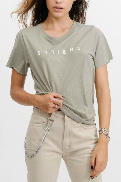 THRILLS Classic Logo Loose Fit Tee Sage 33242