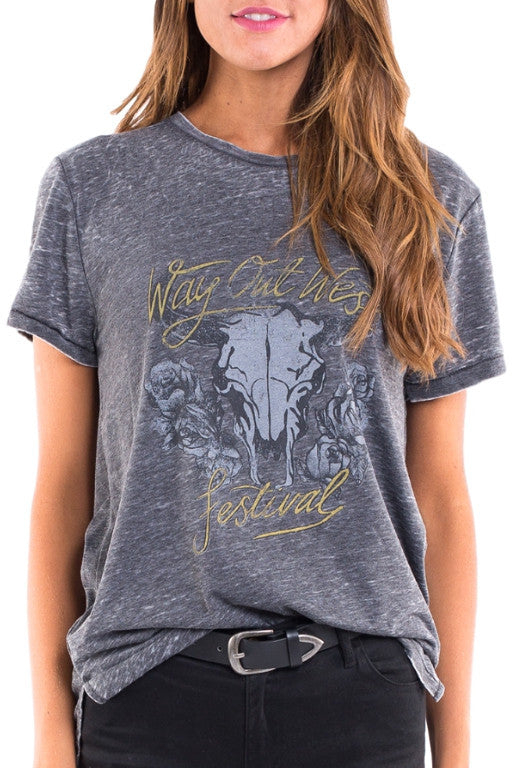 ALL ABOUT EVE Way Out Tee Black 32168
