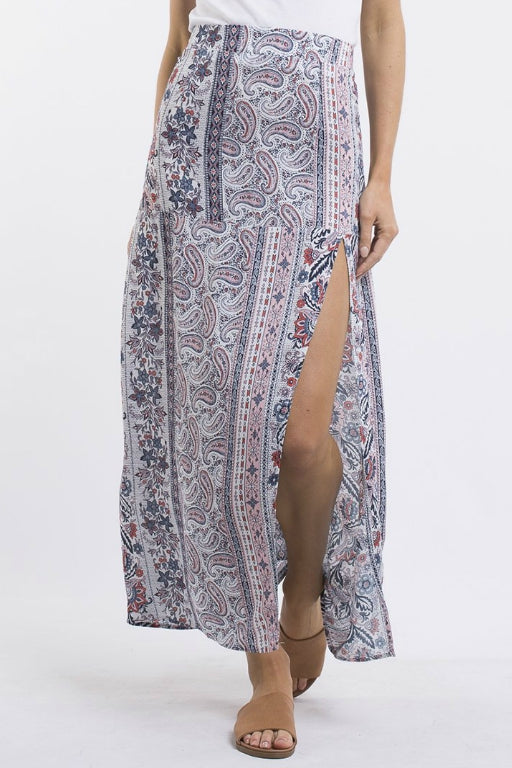 ALL ABOUT EVE Jordyn Maxi Skirt Multi 33499