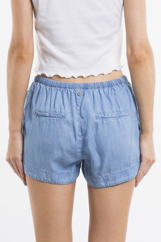 ALL ABOUT EVE Meg Short Mid Blue 33504