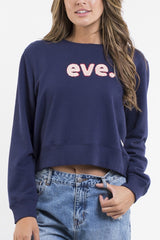 ALL ABOUT EVE Robyn Fleece Navy 32630