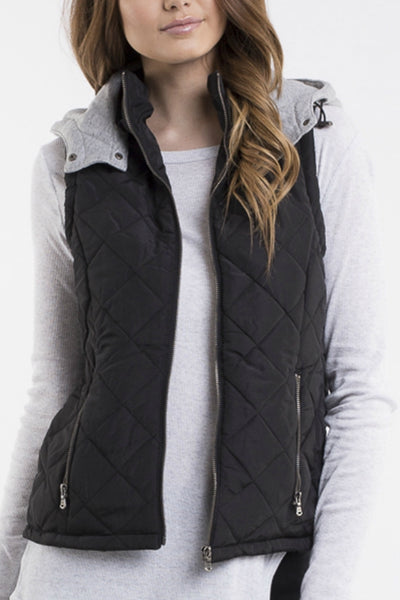 ALL ABOUT EVE Runner Puffer Vest Black 32628