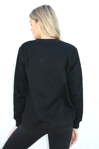 ASHA Crew Sweat Black 34111