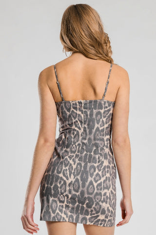 BEYOND HER Leopard Mini Dress 34007