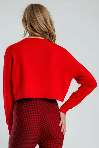 BEYOND HER Lonely Hearts Knit Red 34160