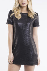 JORGE Sparkle Dress Black 33025
