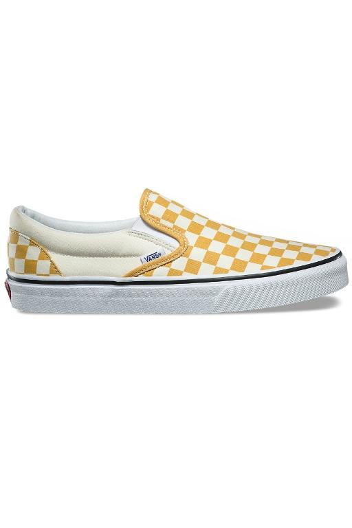 VANS Checkerboard Slip-On Ochre/True White 32360