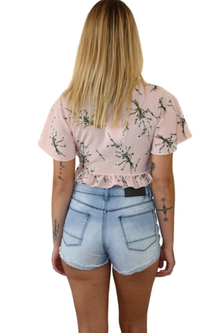 ASHA Summer Dreams Top Pink Floral 32909
