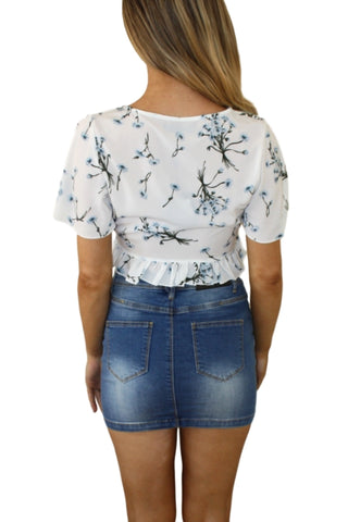 ASHA Summer Dreams Top White Floral 32909