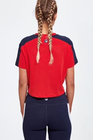 FILA Crop Tee Red 34168