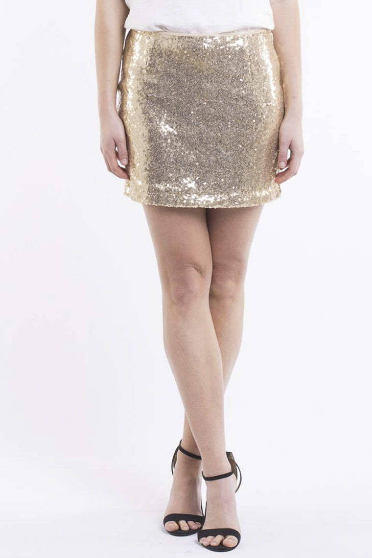 JORGE Sparkle Mini Skirt Gold 33026